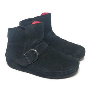 FitFlop black Boots Suede Leather Ankle Booties